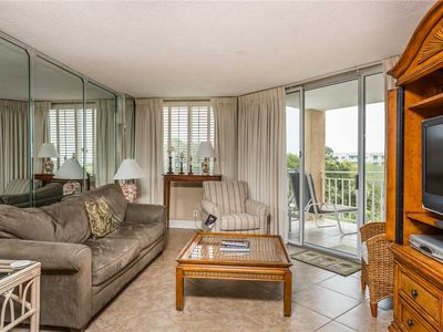Photo for Oceanfront Condominium with Swimming Pool and Private Boardwalk to Beach! Ocean View