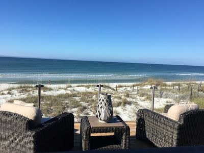 Photo for L@@K Gulf front 3BR w/bunk 3 BA DIRECTLY ON DUNES Minor damage repairs complete