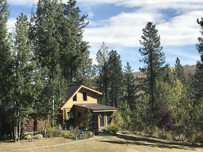 Photo for Charming Jackson Hole log cabin on horse property