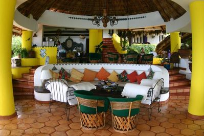 Living area in Main Palapa