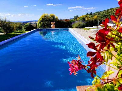 Photo for Villa in the heart of Tuscany with private pool, stunning views!