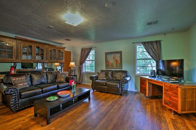 Retreat indoors to relax in the air-conditioned interior with numerous amenities!
