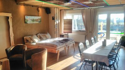 Photo for Family accommodation, group accomodation, suite-rustic course on the Danube