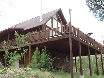 Photo for Top of the Rock - Beautiful Mountain Cabin - New