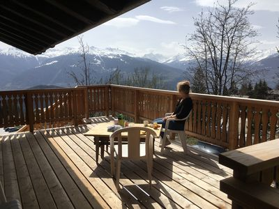 Photo for Private chalet 140m2 Valais Anzère 8 pers / 4 ch View +++ Summer / Ski resort