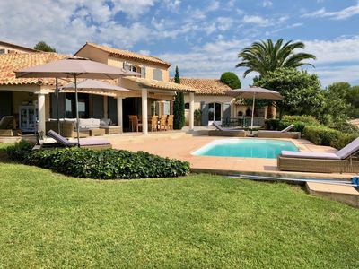 Photo for Fantastic private villa with sea-view  Valbonne