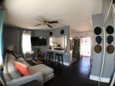 Photo for Haven for travel nurses & vacationers alike! Cozy modern home 1 block from beach