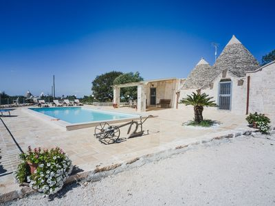 Photo for Trullo with private pool, close to town, acres of fruit/olive trees, wifi