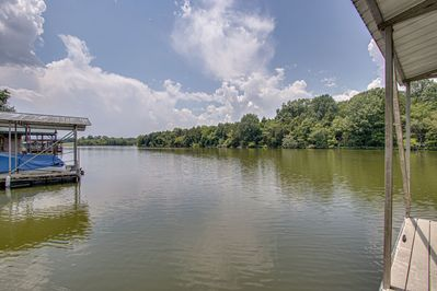 A view of Old Hickory Lake from the dock.