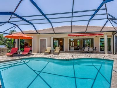 Photo for THE ALCAZAR - beautiful, well-equipped home in SW Cape Coral, heated pool, canal