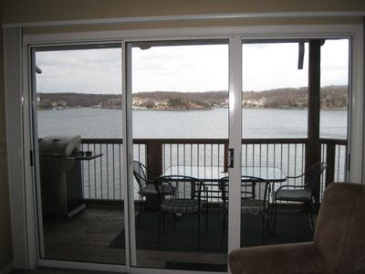 Photo for FREE NIGHT! Outstanding Lake view! No steps! Sleeps 7. Free WIFI
