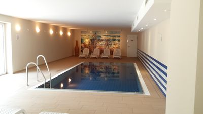 Photo for Modern holiday apartment in direct beach location / POOL / sauna / W-LAN, underground parking inclusive