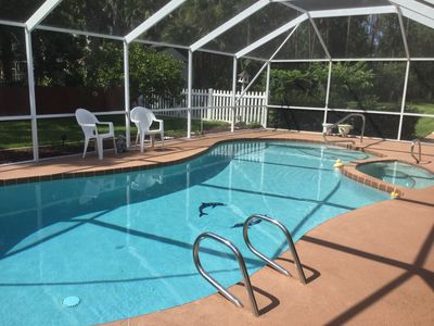 Photo for PALM COAST JEWEL,  3 BEDROOM,  2 BATHS, HEATED  POOL/SPA WITH SCREENED LANAI