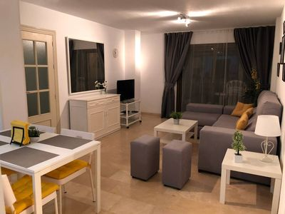 Photo for Very cozy and beautiful apartment with 2 bedrooms at 400m from the beach in Mijas Costa