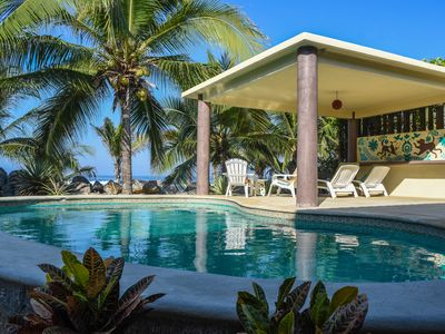 Photo for Sandpiper Troncones New Beachfront House!! with Lovely Pool!!