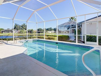 Photo for Breezy lakefront home w/ a pool, lush views, close to beaches!
