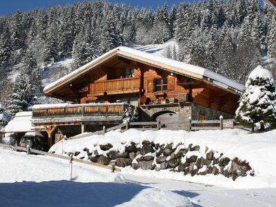 Photo for ONE FLOOR APARTMENT IN A SINGLE CHALET WITH SOUTH TERRACE