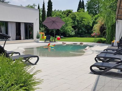 Photo for Nice apartment for 10 guests with A/C, WIFI, private pool, TV and parking