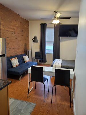 Photo for Enjoy our cozy, clean, spacious renovated studio.  Easy Access to the metro.
