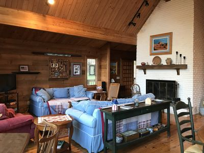 Photo for New Listing!  Experience Rustic Elegance in this 3 BR Log Home in Quechee!