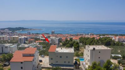 Photo for Three bedroom apartment with terrace and sea view Makarska (A-18337-a)