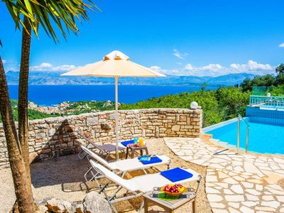 Photo for Villa Kerkyra Kristina -Panoramic sea views includes a private pool, WI-FI & A/C