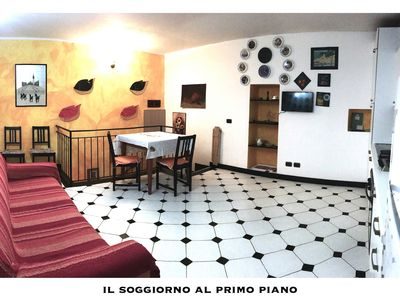 Photo for Small apartment on 2 levels in the historic center