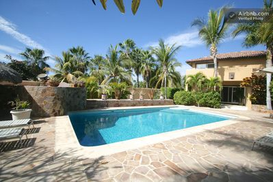 Casa Cabo Vista. Your private Pool. Note covered patio leading to master bedroom