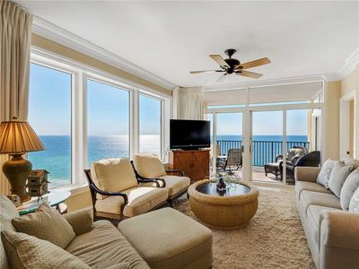 Photo for Gulf Front, Corner Condo, Free Beach Chair Service