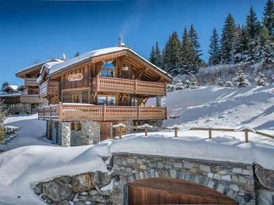 Photo for Chalet Madeleine: Traditional chalet to rent in Courchevel.