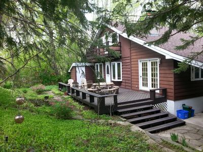 Rear of cottage and deck