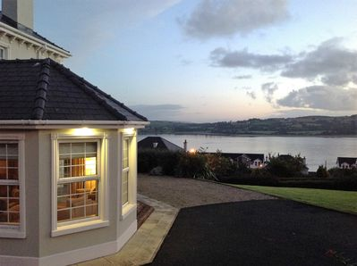 Sea views over Lough Swilly to Inch Island on the Wild Atlantic Way