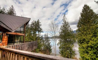 Photo for Pet Friendly Chalet Near Ocean with Full Kitchen, Private Deck + BBQ