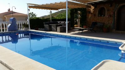 Photo for Romantic villa with private pool and unique views, ideal couple or family.