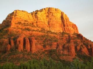 Great Views from our Large Wrap Around Deck The closest Red Rock is Chapel Rock