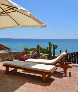 Photo for An amazing apartment overlooking the sea in Tuscany Monte Argentario