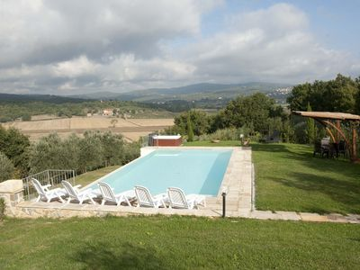 Photo for Wonderful villa with private pool in the tuscany countryside of Monte San Savino