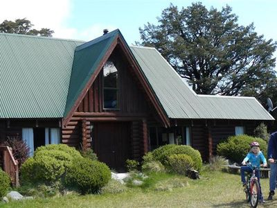 Photo for Spacious log chalet with free WIFI, great for a few families