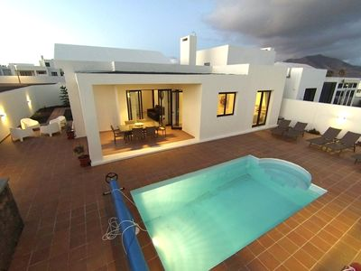 Photo for MODERN LUXURY VILLA, HEATED POOL, HOT TUB, AIR CON, Wi Fi, TENNIS COURT