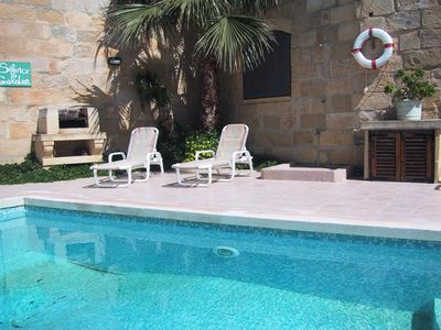 MARGIA holiday house pool area with barbecue