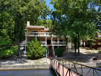 Photo for NEW LISTING! Family Fun Lakefront Home 14 of 14, 4 bd/3ba, sleeps 16 Quiet cove