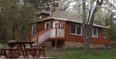 Photo for Beautiful 2 bedroom cabin newly renovated. Located on a 15 acre farm