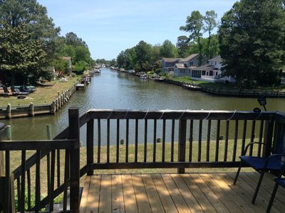 Photo for waterfront beach retreat with boat dock