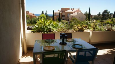 Photo for Carqueiranne Grand T2 Swimming pool Terrace and sea view