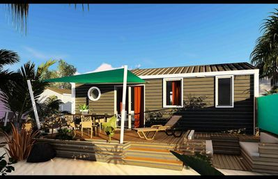 Photo for Camping California Beach **** - Premium Caicos Cottage 4 Rooms 6 People Air Conditioned