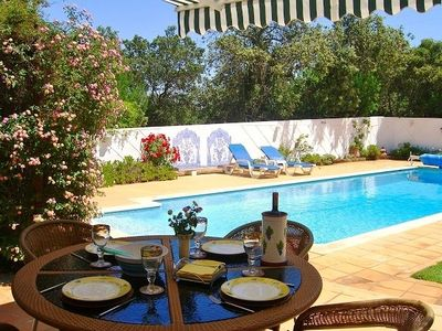 Photo for Lovely villa in private walled & gated garden, heated & fenced pool + Free WiFi