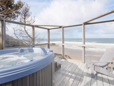 Photo for Historic oceanfront w/ private hot tub & deck.  Used as Lookout in WW2