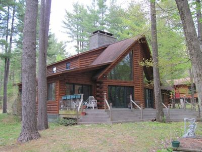 Photo for Lake George 2500 sf Log Home/ Americade special