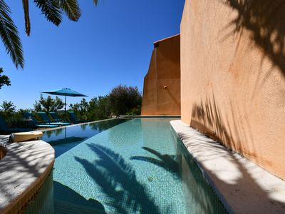 Photo for BEAUTIFUL VILLA 4 **** WITH OVERFLOW POOL AND SEA VIEW between sky and terr