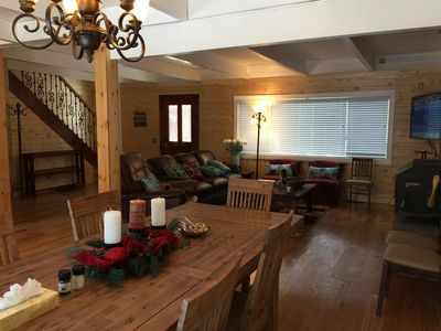 Photo for Spacious knotty pine wood house, 4bedrooms, 2.5 Baths